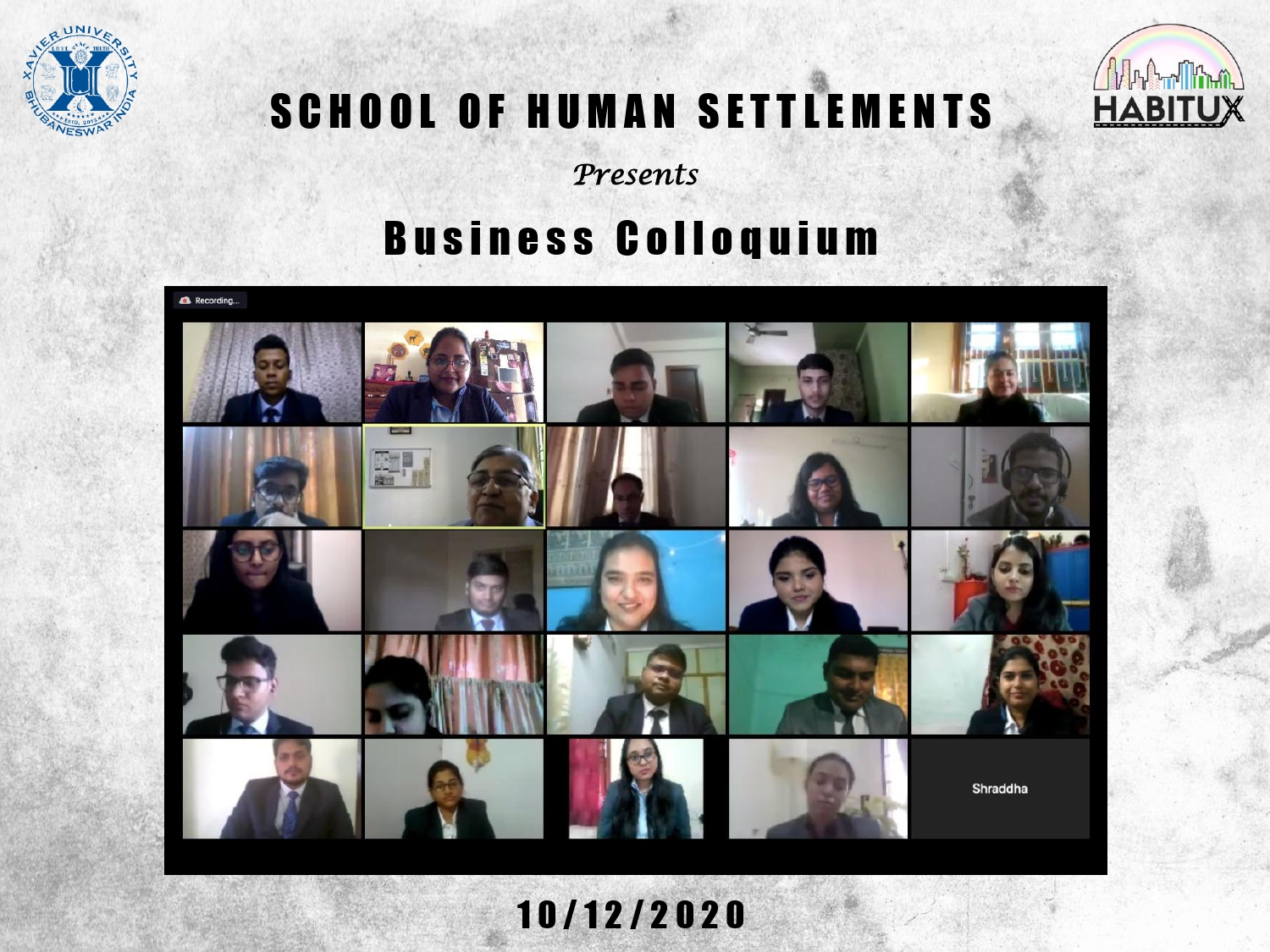 BUSINESS COLLOQUIUM : 10th December 2020